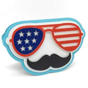 4th of july fun glasses card