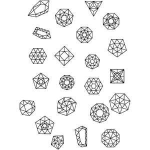 gem stone jewel coloring stickers
