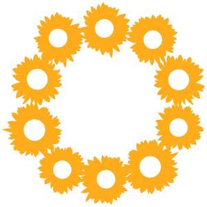 sunflower wreath frame