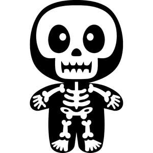 halloween cute skeleton