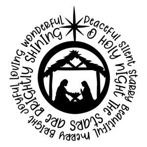 nativity scene christmas word art