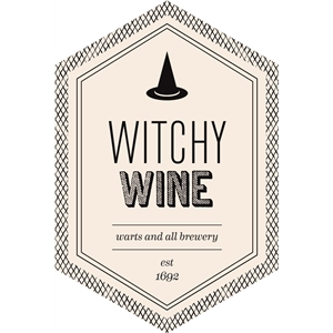 witchy wine beverage label