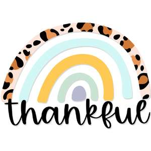 thankful leopard rainbow