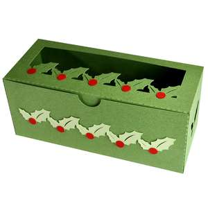 holly cookie box