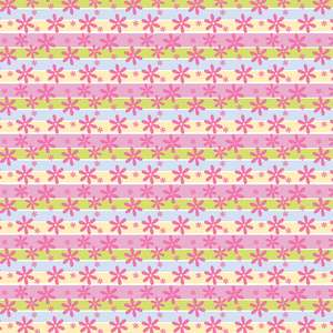 colorful stripes with flower pattern