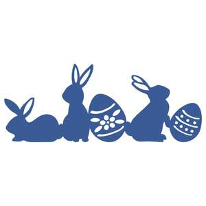 easter bunnies border