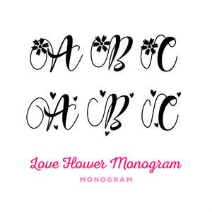 love flower monogram