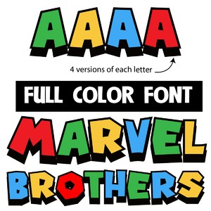 marvel brothers color font