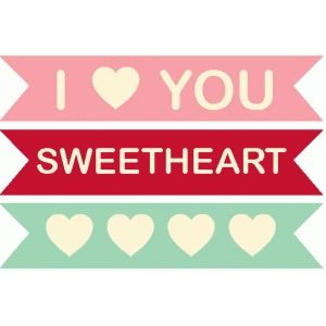 sweetheart word tags