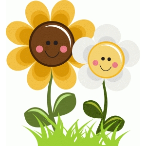 happy sunflower and daisy flower