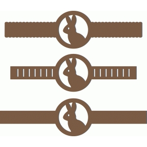 3 decorative bands scalloped - bunny