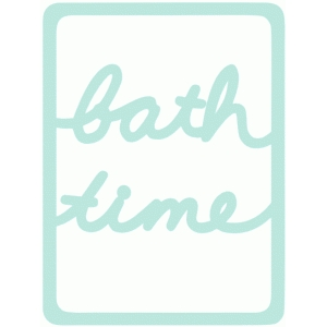 bath time 3x4 life card