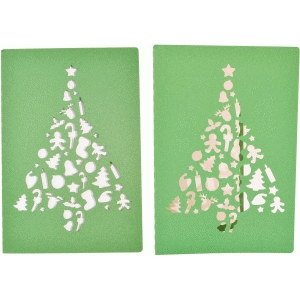 card christmas tree ornaments