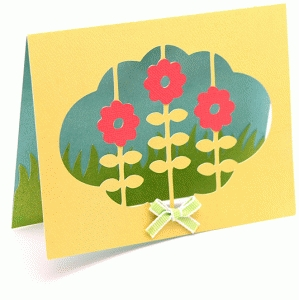 a2 flowers in a cloud card