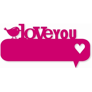 'love you' thought bubble