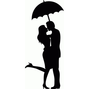 umbrella kiss