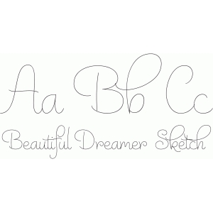 beautiful dreamer sketch font