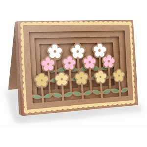 garden shadow box folded card