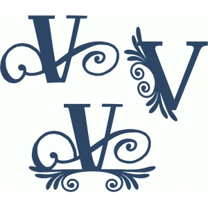 flourish monogram set - v