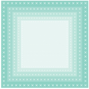 nested cross stitch edge squares