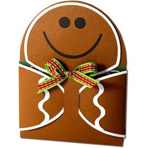 gingerbread man hug gift card holder