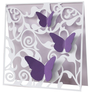 butterfly cluster flourish card