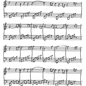 sheet music sketch