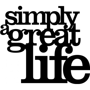 'simply a great life' phrase