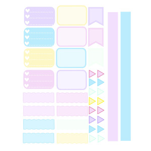 pastel dreams planner labels kit