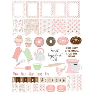 baking fun planner stickers