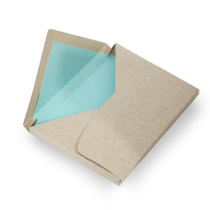 2.5 in. x 3.5 in x .25 in thick triangle flap envelope