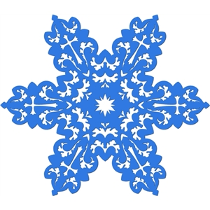 ornate cross snowflake