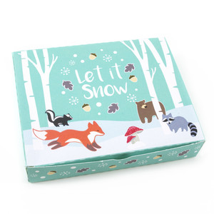 winter woodland cookie box