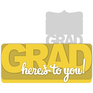 grad-here's to you card kit