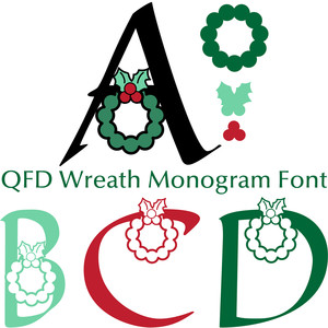 qfd wreath monogram font
