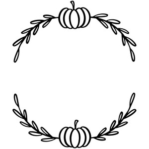 pumpkin leaves wreath