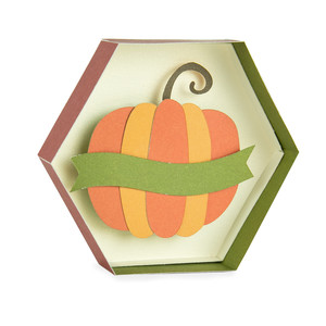 pumpkin hexagon box with banner