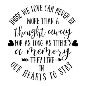memorial cut file - those we love can never