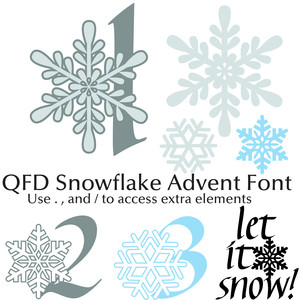 qfd snowflake advent font