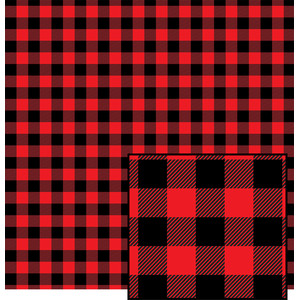 red buffalo plaid pattern