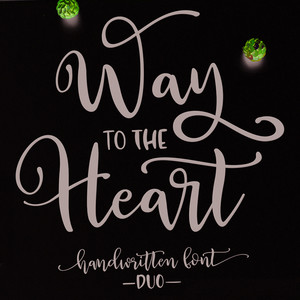 way to the heart font duo