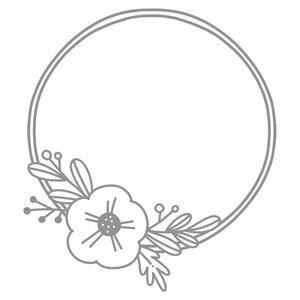 simple flower double wreath