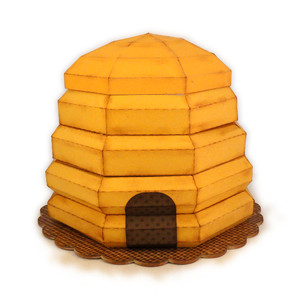 beehive 3d form with compartment