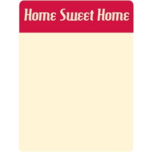 home sweet home journaling card