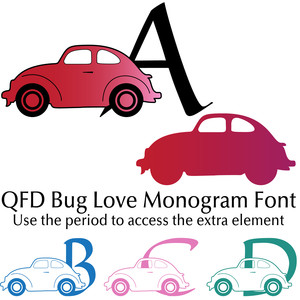 qfd bug love monogram font