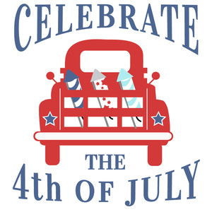 celebrate 4th of july truck
