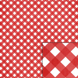 red gingham background paper