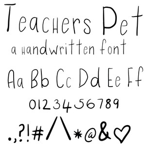 teachers pet font