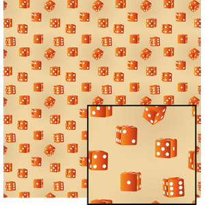 orange dice pattern