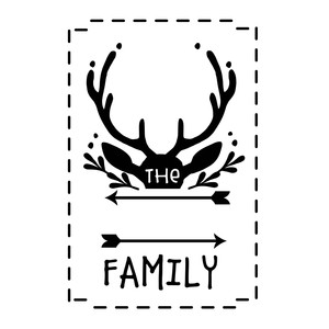 hunters family name sign